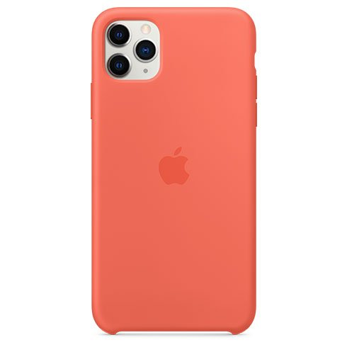 Apple iPhone 11 Pro Max Silicone Case, clementine (orange) MX022ZM/A