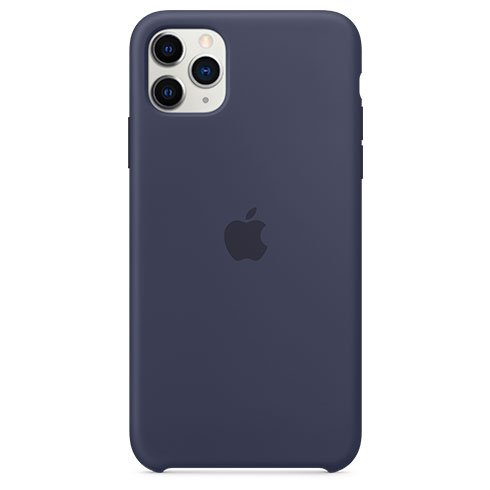 Apple iPhone 11 Pro Max Silicone Case, midnight blue MWYW2ZM/A