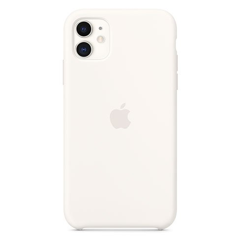 Apple iPhone 11 Silicone Case, white MWVX2ZM/A