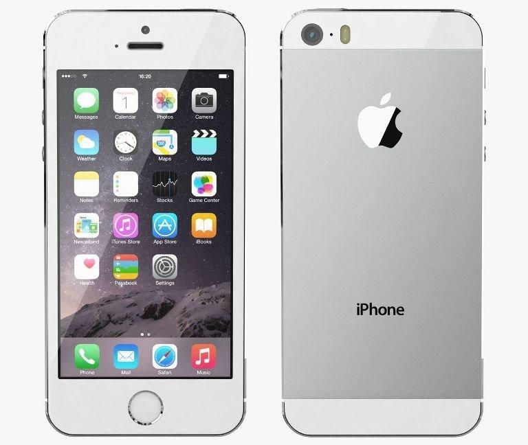 Apple iPhone 5S, 16GB | Silver, Trieda B - použité, záruka 12 mesiacov