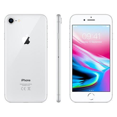 Apple iPhone 8, 64GB   Silver, Trieda A - použité, záruka 12 mesiacov
