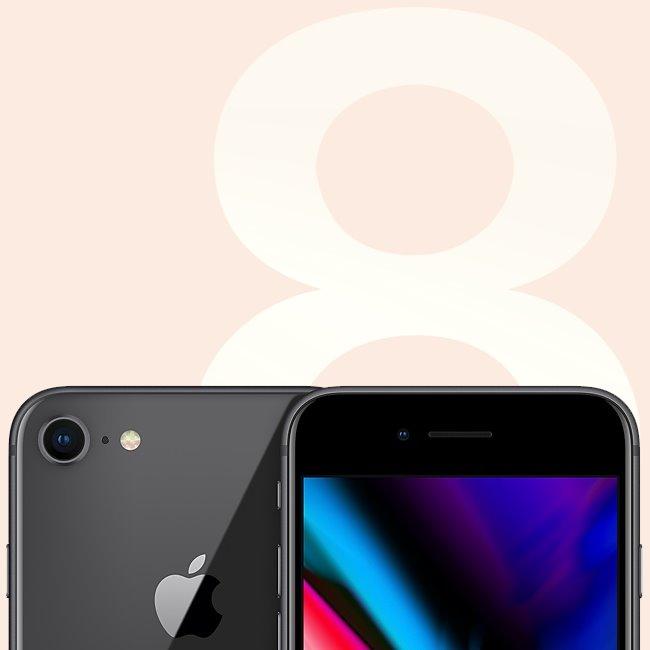 Apple iPhone 8, 64GB, Space Gray