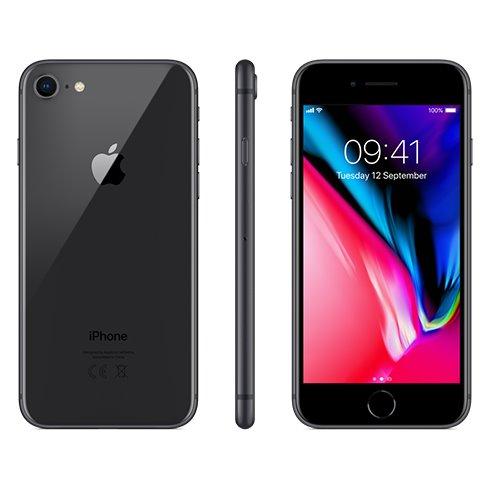 Apple iPhone 8, 64GB   Space Gray, Trieda C - použité, záruka 12 mesiacov