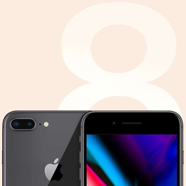 Apple iPhone 8 Plus, 64GB, Space Gray