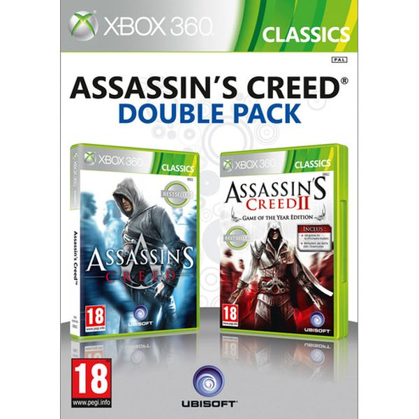 Assassin's Creed + Assassin's Creed 2 (Game of the Year Edition) (Double Pack) XBOX 360