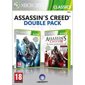 Assassin's Creed + Assassin's Creed 2 (Game of the Year Edition) (Double Pack)- XBOX 360- BAZÁR (použitý tovar)