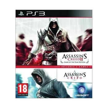 Assassin's Creed + Assassin's Creed 2 (Game of the Year Edition) [PS3] - BAZÁR (použitý tovar)