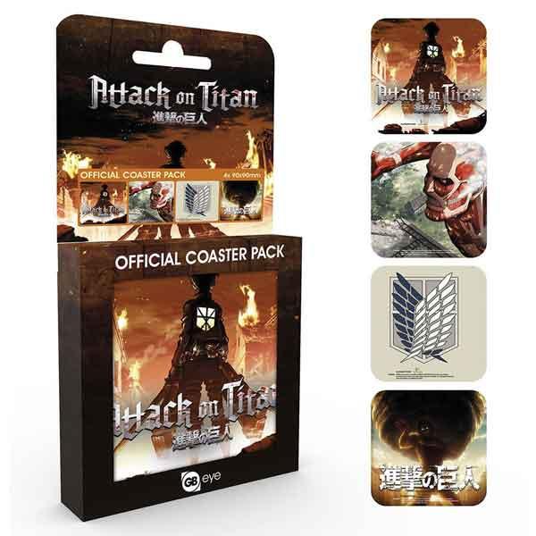 Attack on Titan tácky pod poháre (4-Pack)