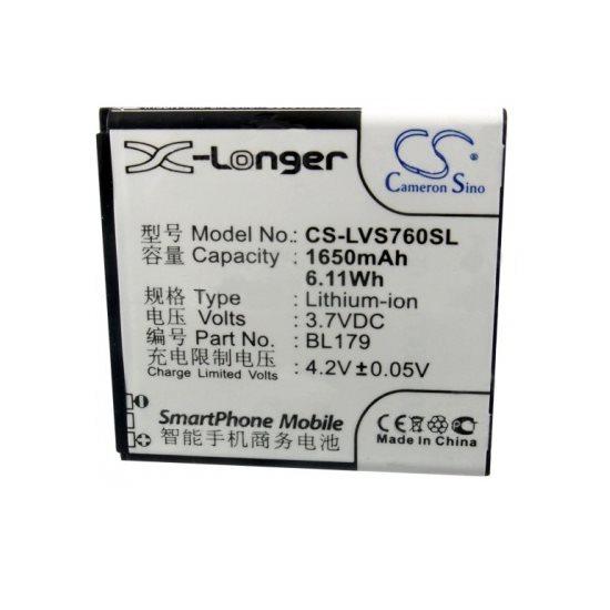Batéria Cameron Sino pre Lenovo S680 a Lenovo S760, (1650mAh)