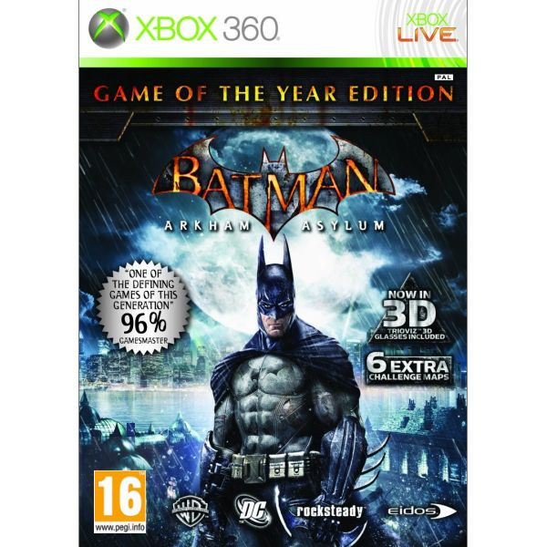 Batman: Arkham Asylum (Game of the Year Edition) [XBOX 360] - BAZÁR (použitý tovar)