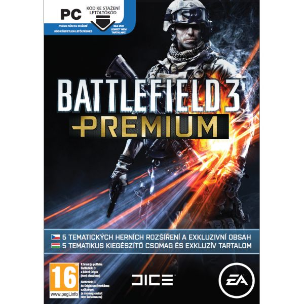 Battlefield 3: Premium CZ PC Code-in-a-Box