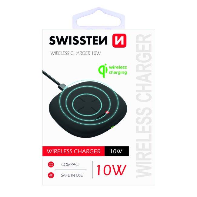 Bezdrôtová nabíjačka Swissten 10W, čierna