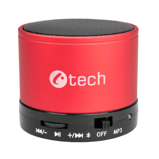 Bezdrôtový bluetooth reproduktor C-TECH SPK-04, Red