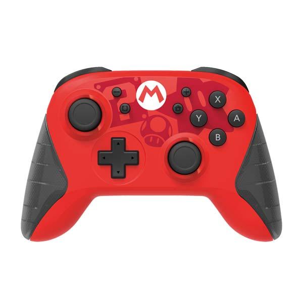 HORI Horipad bezdrôtový nabíjateľný ovládač pre konzoly Nintendo Switch (Mario Edition)