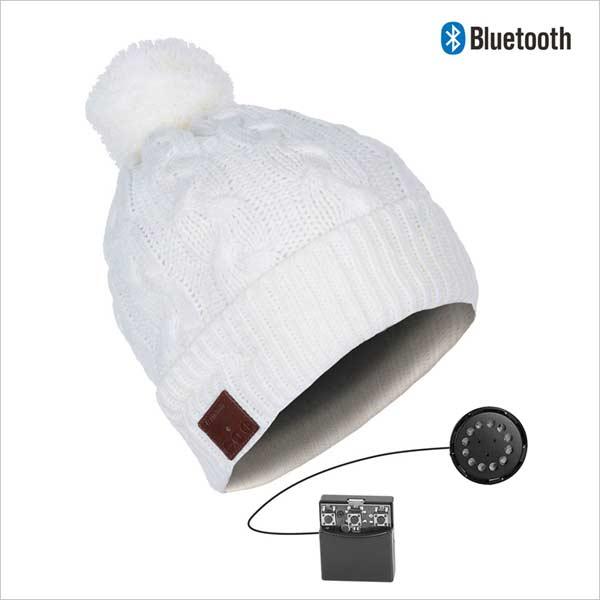 Bluetooth èiapka s brmbolcom, biela