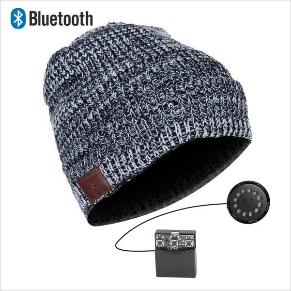 Bluetooth čiapka, šedo-biela