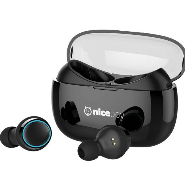 Bluetooth Stereo Headset Niceboy Hive Pods, Black