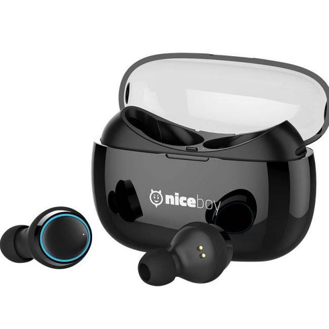 Bluetooth Stereo Headset Niceboy Hive Pods, Black - rozbalený tovar