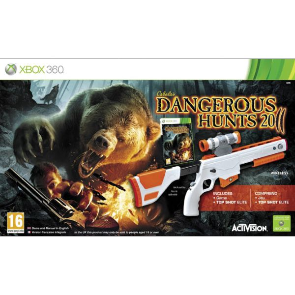 Cabela's Dangerous Hunts 2011 + Top Shot Elite XBOX 360