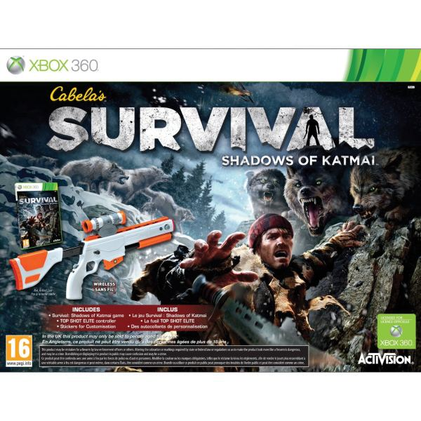 Cabela's Survival: Shadows of Katmai + Top Shot Elite XBOX 360