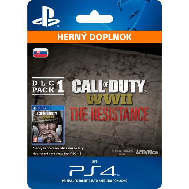 Call of Duty: WW2 (The Resistance: DLC Pack 1 SK)