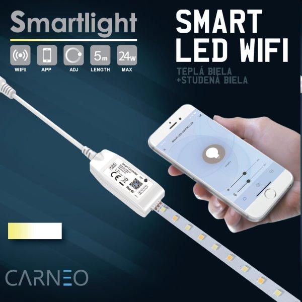Carneo Smartlight WW LED pás 5m, biely