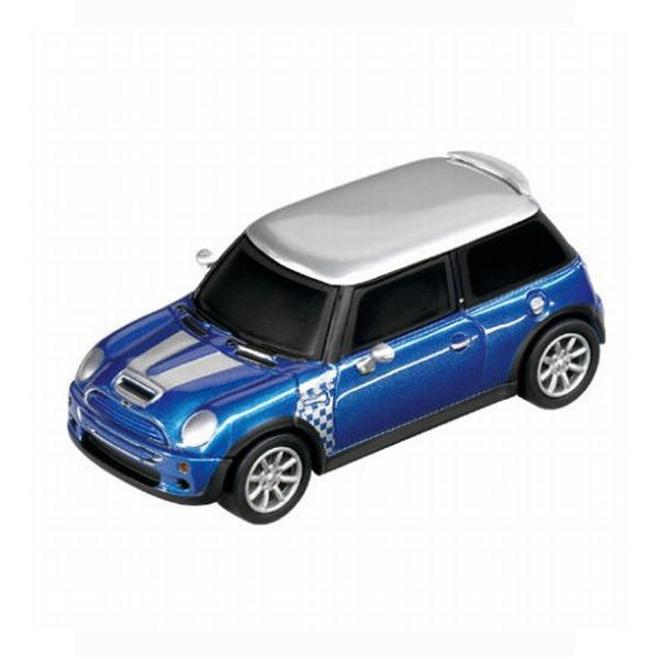 Carrera GO!!! Mini Cooper S: Checkmate Hyper Blue Metallic
