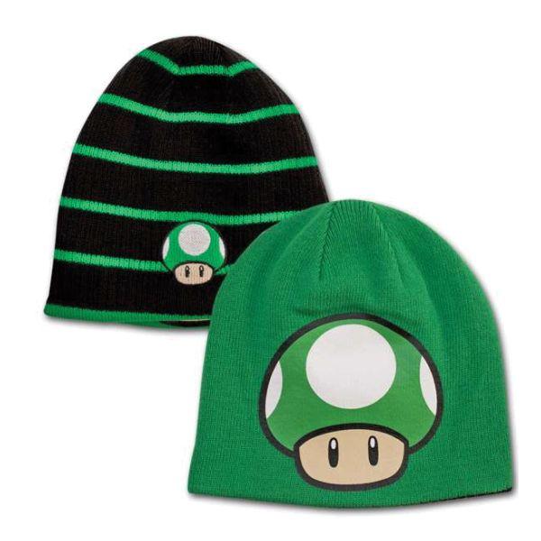 Čiapka Super Mario Bros. Black & Green Mushroom