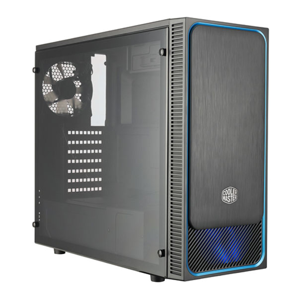CoolerMaster MASTERBOX E500L, ATX, black-blue