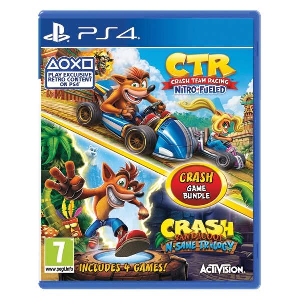 Crash Team Racing Nitro-Fueled + Crash Bandicoot N.Sane Trilogy (Crash Game Bundle)