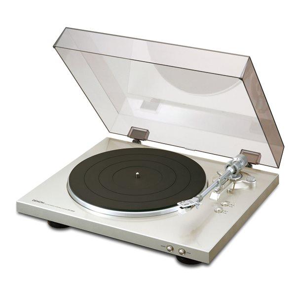 Denon DP-300F, gramofón, Silver DP300FSPE2