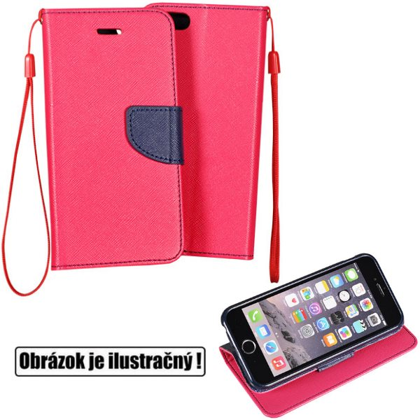 Diárové puzdro Fancy pre Huawei P8 Lite, PinkBlue