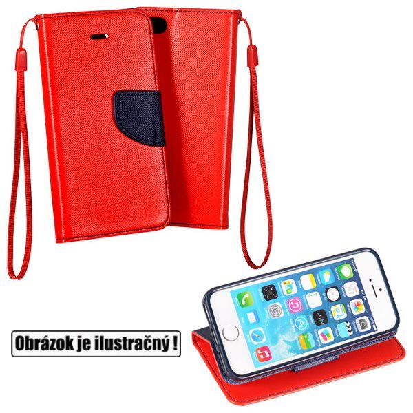 Diárové puzdro Fancy pre Huawei Y3, RedBlue