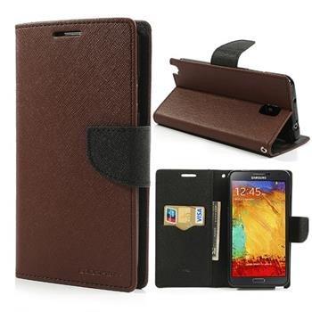 Diárové puzdro Fancy pre Samsung Galaxy J1 - J100, BrownBlack