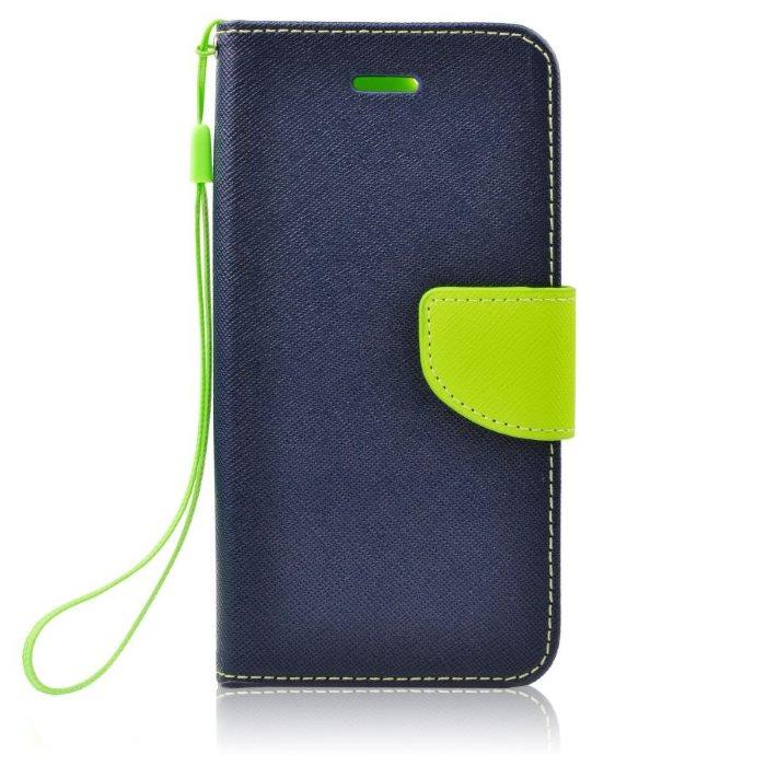 Diárové puzdro Fancy pre Xiaomi Redmi Note 2, Blue/Lime