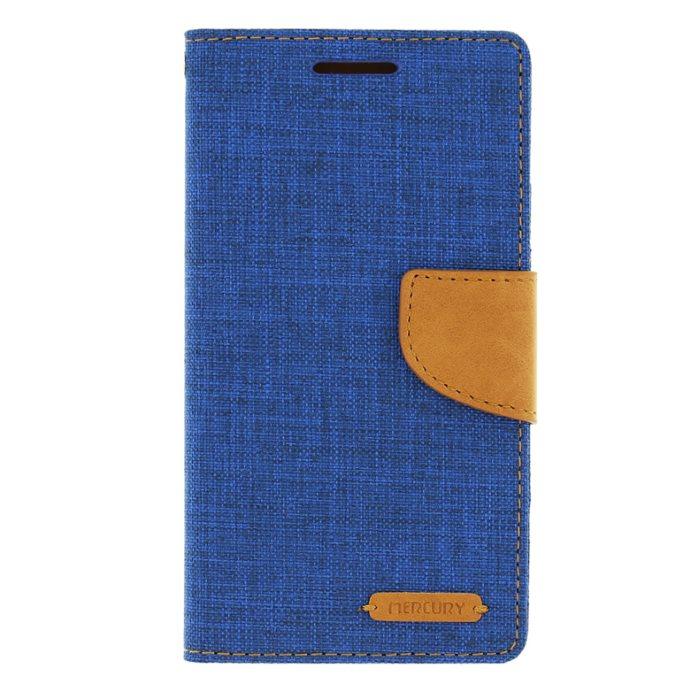 Diárové puzdro Mercury Canvas pre Samsung Galaxy J1 (2016) - J120F, Blue/Camel