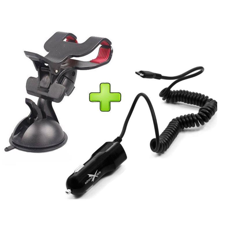 Držiak do auta + autonabíjačka pre Alcatel OneTouch 5042D Pop 2 (4.5)