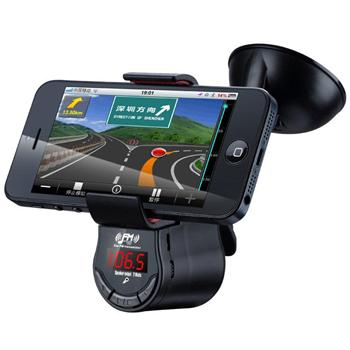 Držiak do auta s FM transmitterom pre Alcatel OneTouch 6039Y Idol 3 (4.7)