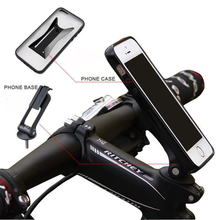 Držiak na bicykel BestMount Premium pre Huawei Mate 8, Dual SIM, Silver - SK distribúcia