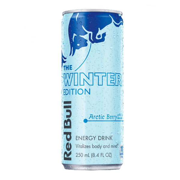 Energetický nápoj RedBull Winter Edition ľadová malina