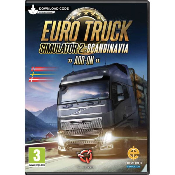 Euro Truck Simulator 2: Scandinavia PC Code-in-a-Box CD-key