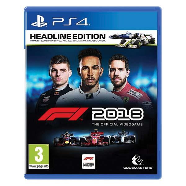 F1 2018: The Official Videogame (Headline Edition) [PS4] - BAZÁR (použitý tovar)