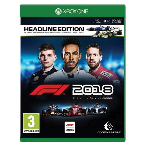 F1 2018: The Official Videogame (Headline Edition) [XBOX ONE] - BAZÁR (použitý tovar)