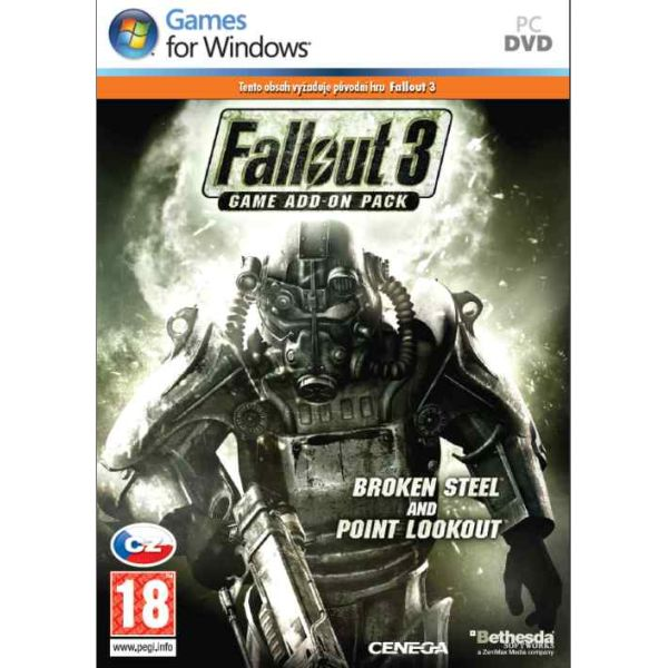 Fallout 3 Game Add-on Pack: Broken Steel and Point Lookout CZ