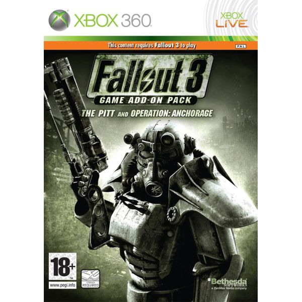 Fallout 3 Game Add-on Pack: The Pitt and Operation Anchorage [XBOX 360] - BAZÁR (použitý tovar)
