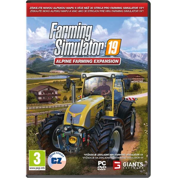 Farming Simulator 19: Rozšírenie Alpine Farming CZ