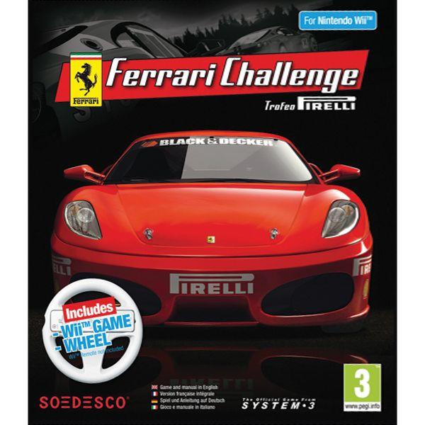 Ferrari Challenge Trofeo Pirelli + Wii Game Wheel