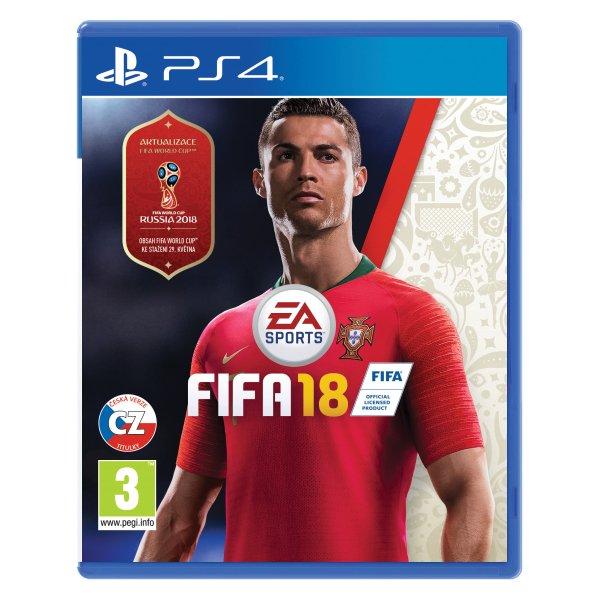 FIFA 18 CZ [PS4] - BAZÁR (použitý tovar)
