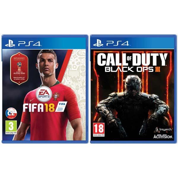 FIFA 18 CZ [PS4] + Call of Duty: Black Ops 3 [PS4] - BAZÁR (použitý tovar) zmluvná záruka 12 mesiacov