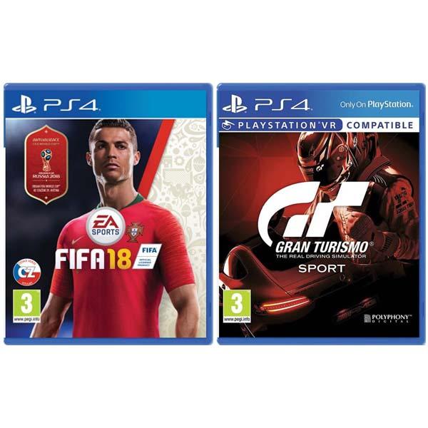 FIFA 18 CZ [PS4] + Gran Turismo Sport CZ [PS4] - BAZÁR (použitý tovar) zmluvná záruka 12 mesiacov